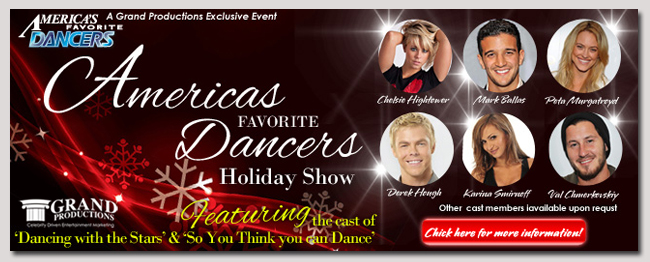 book a celebrity americas favorite dancersevent