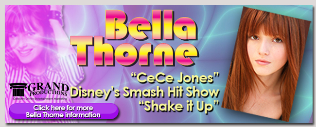 book a celebrity bella thorne event