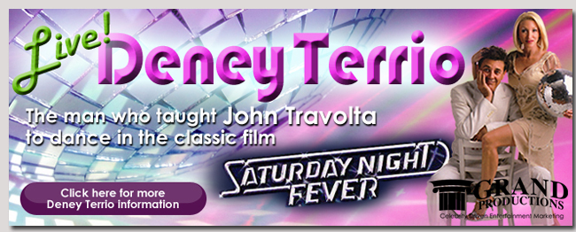 book a celebrity deney terrio event