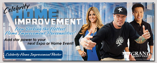 book a celebrity home improvement event