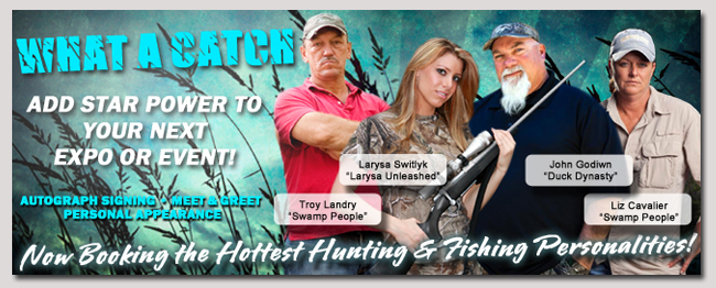 book a celebrity hunting and fishing event