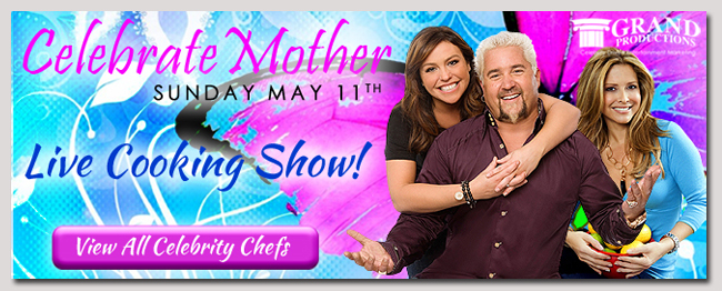 book a celebrity mothers day live cooking show event