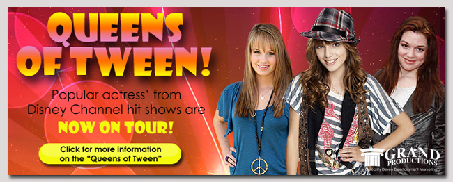 book a celebrity queens of tweens event