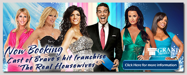 book a celebrity the real housewives