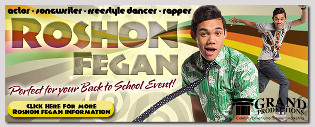 book a celebrity roshon fegan