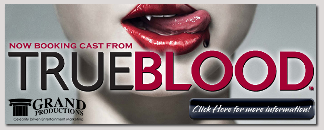 book a celebrity true blood event