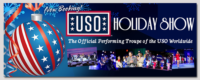 book celebrity USO Holiday Show event